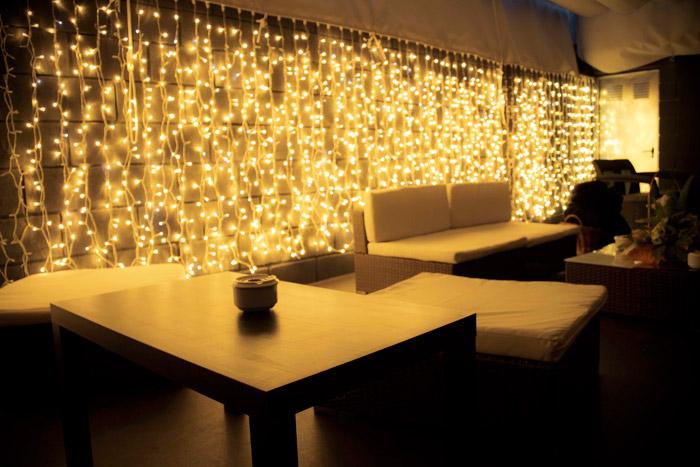 Terraza trasera luces